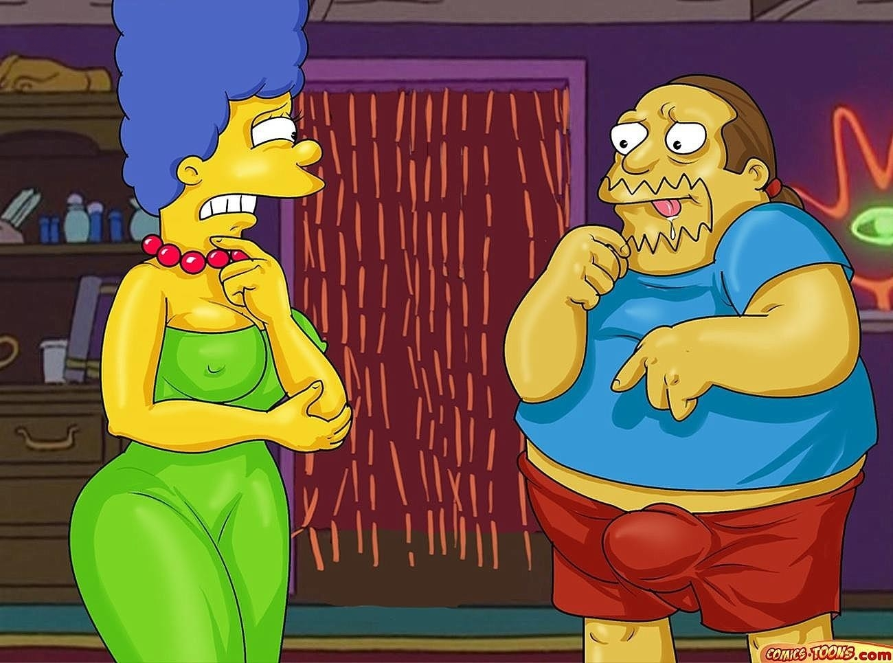 Homer & Jeff Albertson Fucks Marge - 001