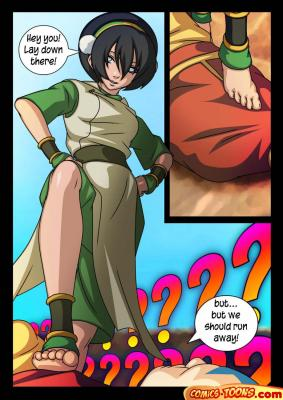 Toph Bei Fong doing Footjob - 01