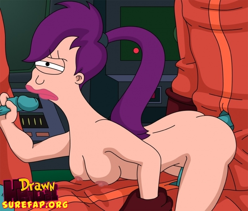 Futurama - Cubert Farnsworth and Aliens fuck Leela 01
