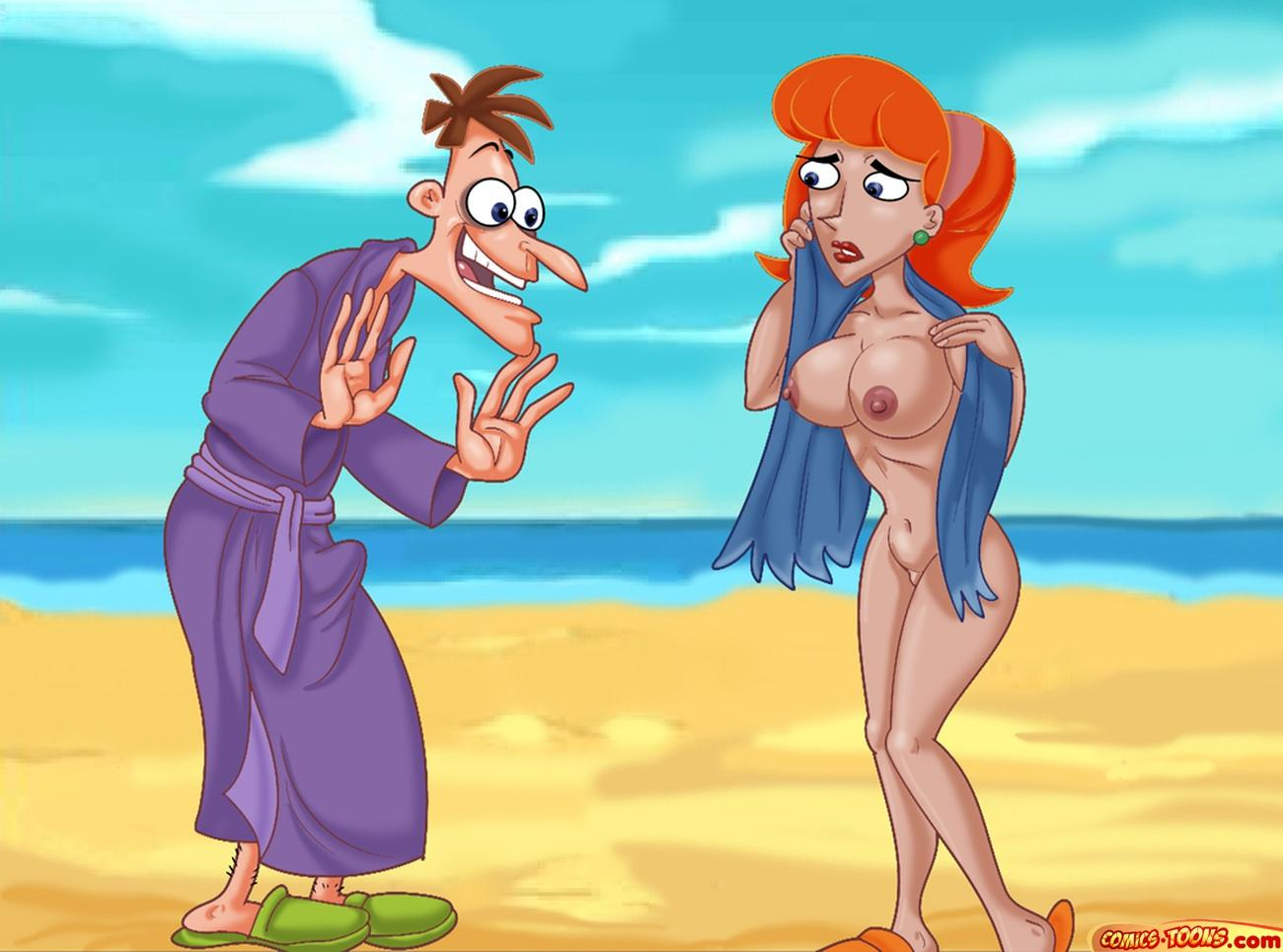 SureFap xxx porno Phineas And Ferb - Fucking On The Beach xxx porno
