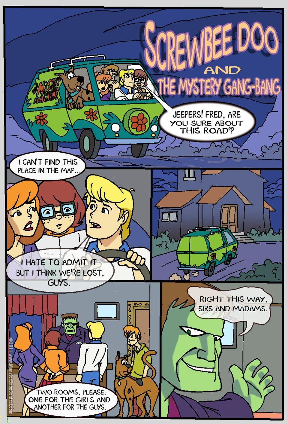 Scooby Doo — Mystery Gang Bang xxx porno