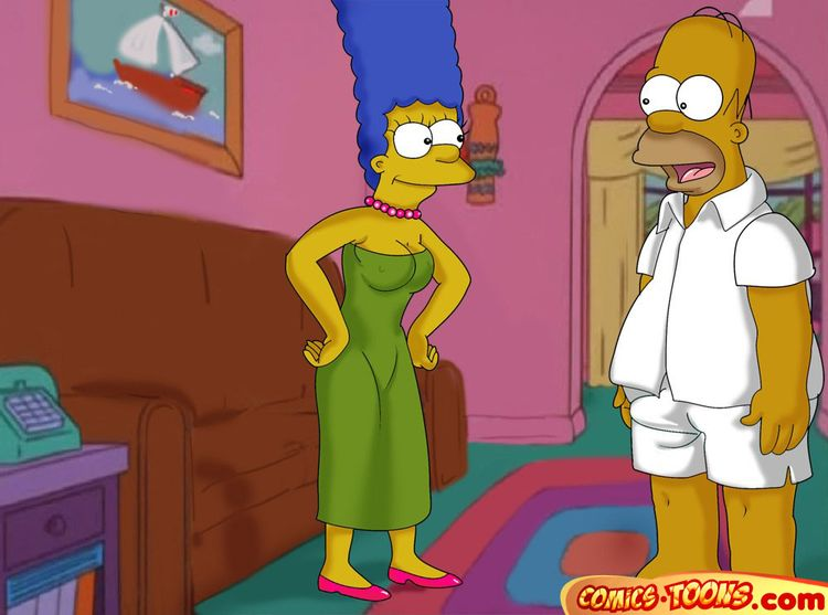 Lustful Homer and Marge - 001+
