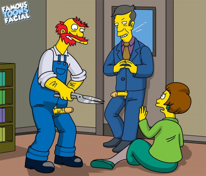Willie with Skinner fucks Edna Krabappel 01