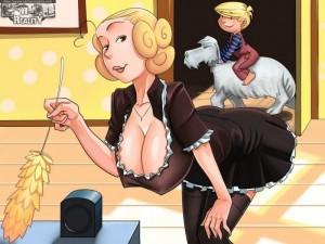 Dennis The Menace - Real Maid xxx porno