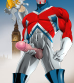 Justice League — [Online SuperHeroes] — Captain Britain & Emma Frost