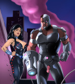 The Teen Titans — [Online SuperHeroes] — Cyborg And Donna Troy
