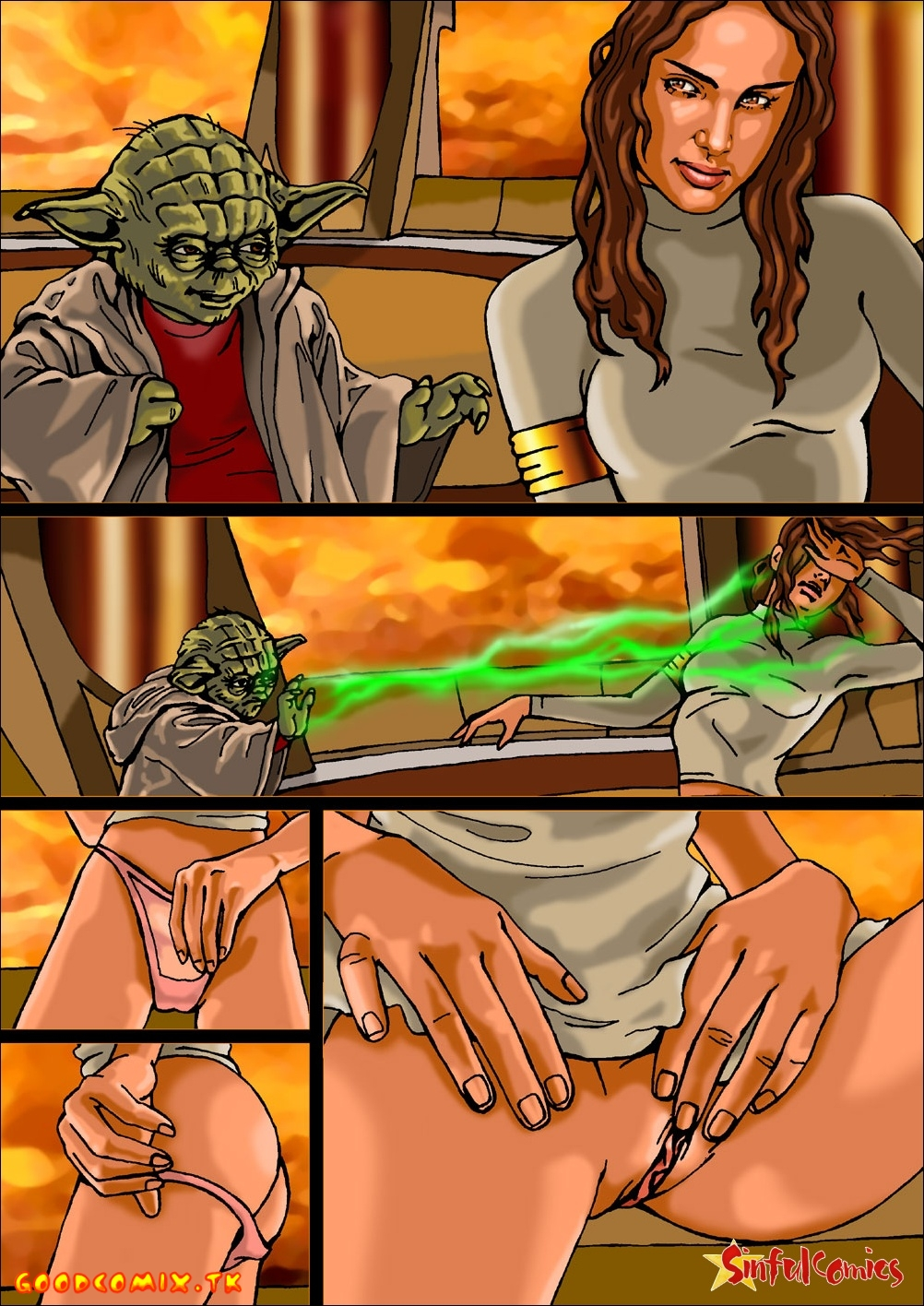 Padme Amidala and Yoda-01