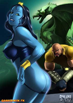 Shadow Lass gives her fine piece of ass to Luke Cage-01