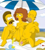 The Simpsons — [ToonFanClub] — Simpsons And Flanders On The Beach