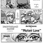 Teenage Mutant Ninja Turtles — [bigbangbloom] — April & Donni in Mutant Love