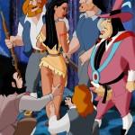Pocahontas — [CartoonValley] — Pocahontas and English Colonists