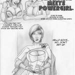 DC Comics — [Biker Bloke] — Thong Girl Meets Power Girl