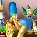 The Simpsons — [Drawn Hentai][ToonFanClub] — Porno Orgy In The House Simpsons (two colors)