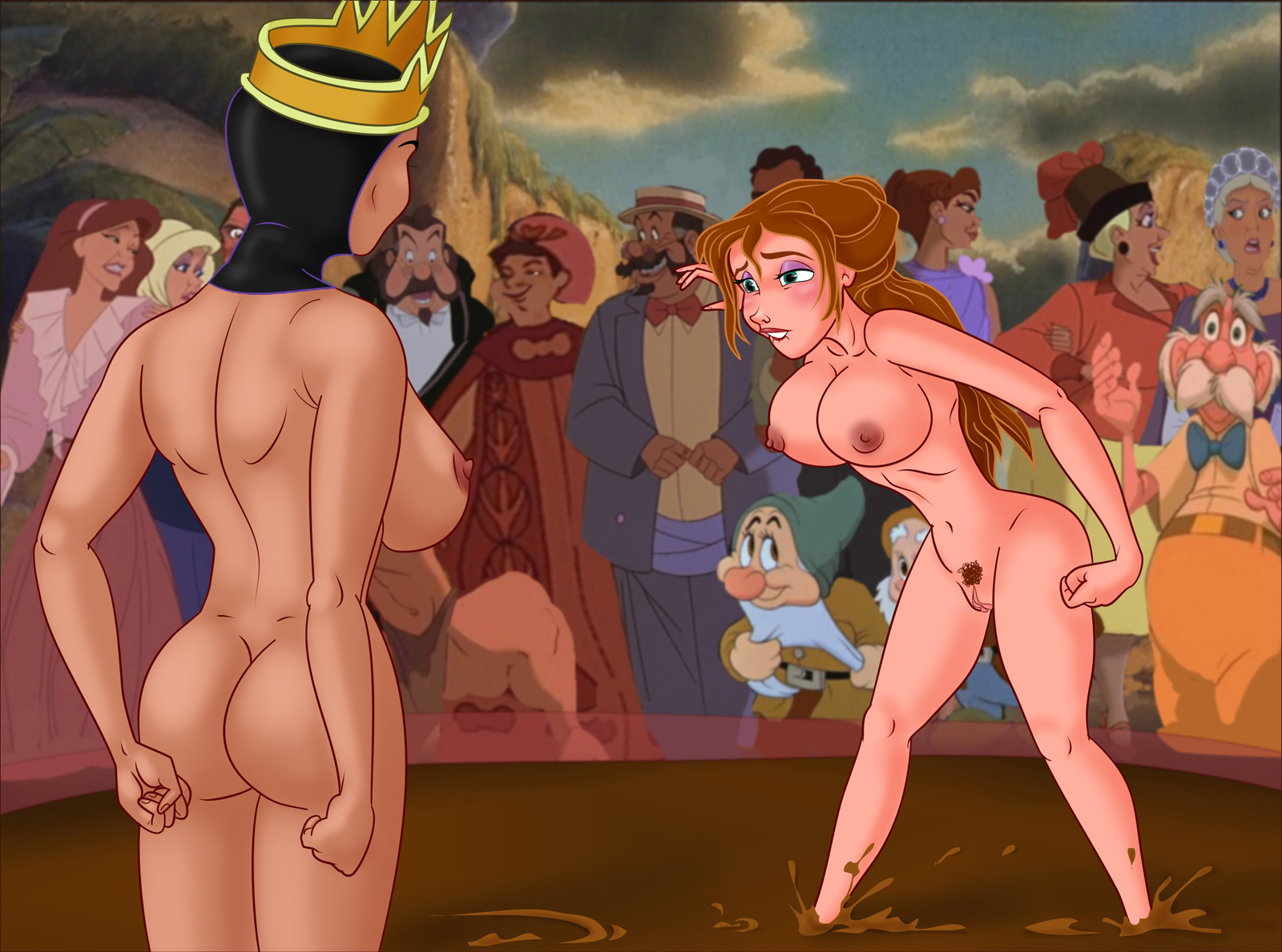 SureFap xxx porno Crossover - [XL-Toons] - Jane Porter Vs. Queen Grimhilde