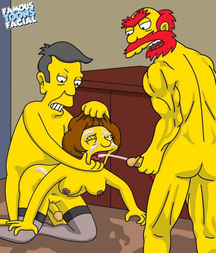 SureFap xxx porno The Simpsons - [Famous Toons Facial][acme] - Willie with Skinner fucks Edna Krabappel