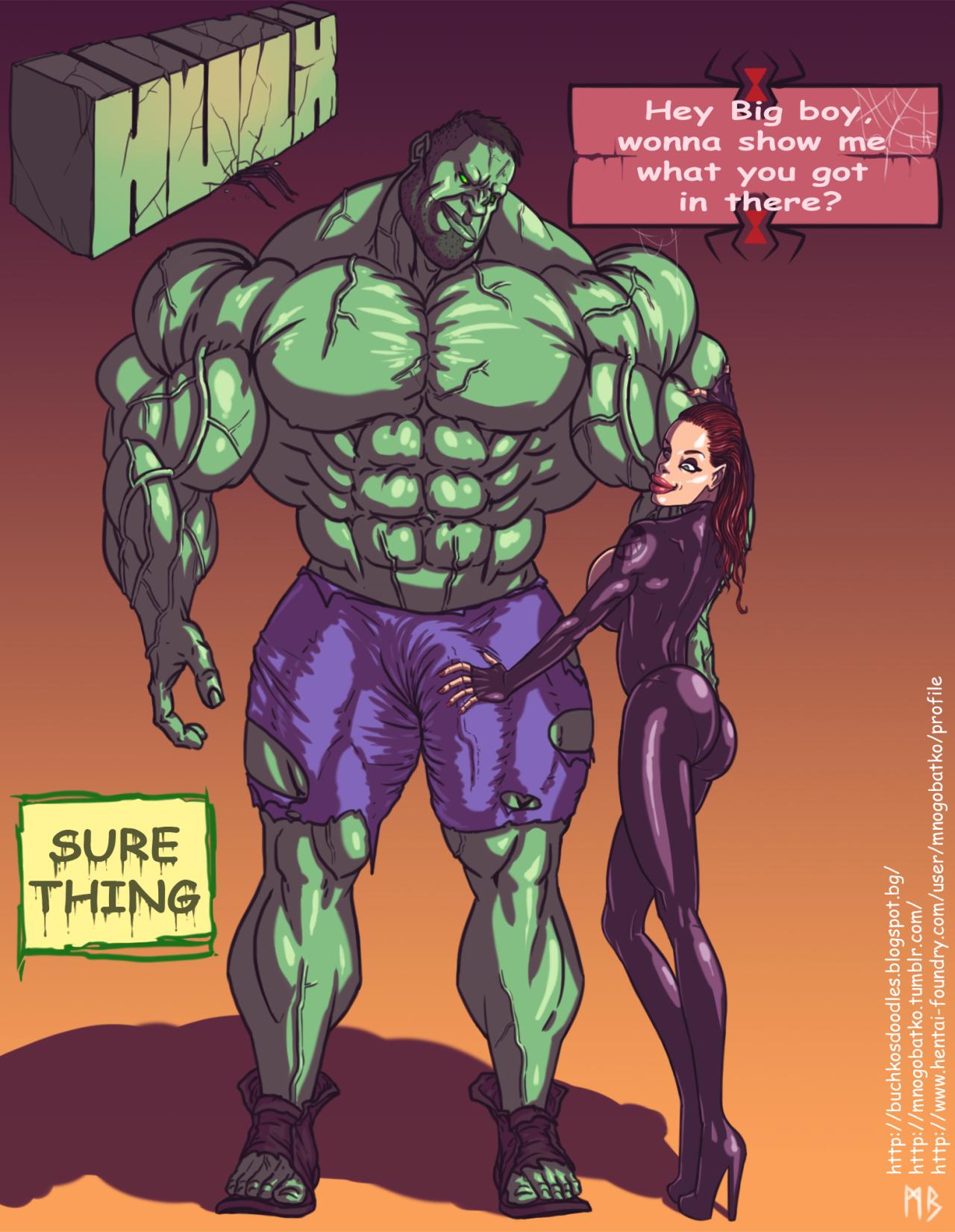 SureFap xxx porno The Avengers - [Mnogobatko] - Hulk vs Black Widow
