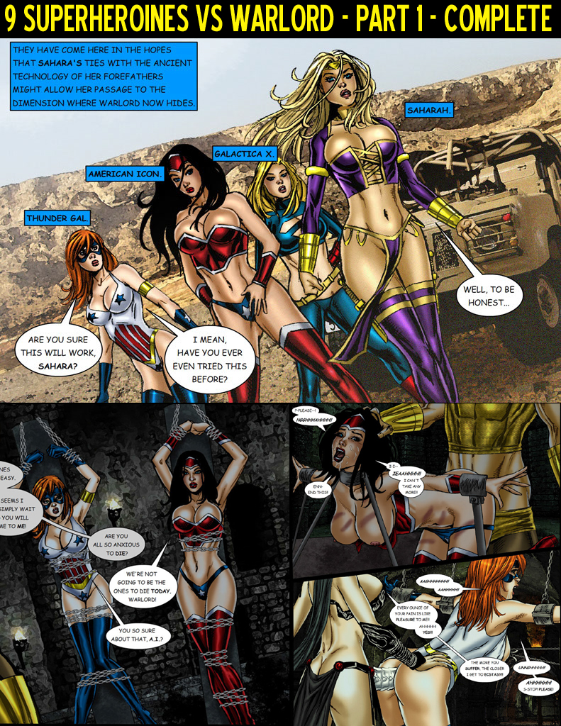 SureFap xxx porno [Matt Johnson] - 9 Superheroines vs Warlord Ch. 1-3
