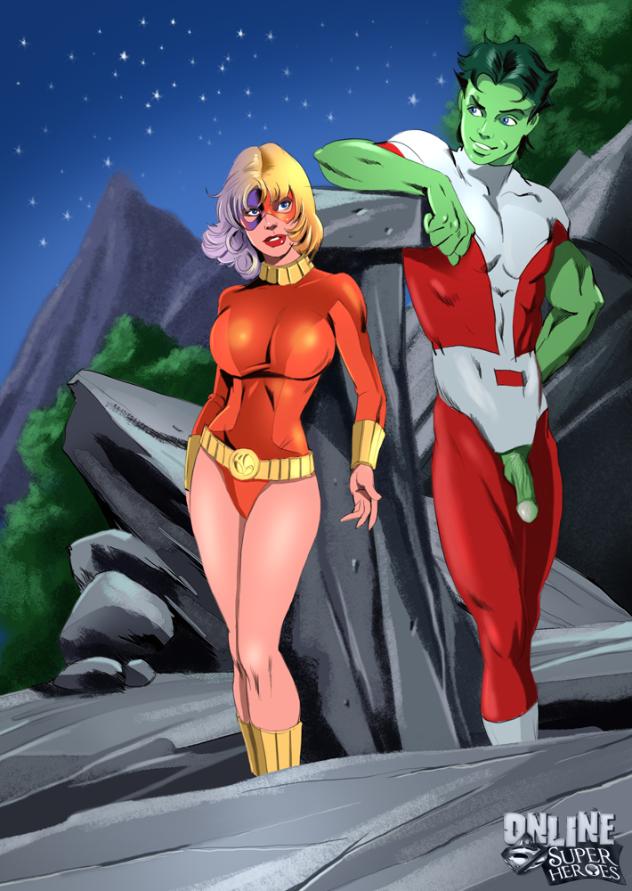 SureFap xxx porno The Teen Titans - [Online SuperHeroes] - Terra Having Hot Outdoors Sex With Beast Boy!