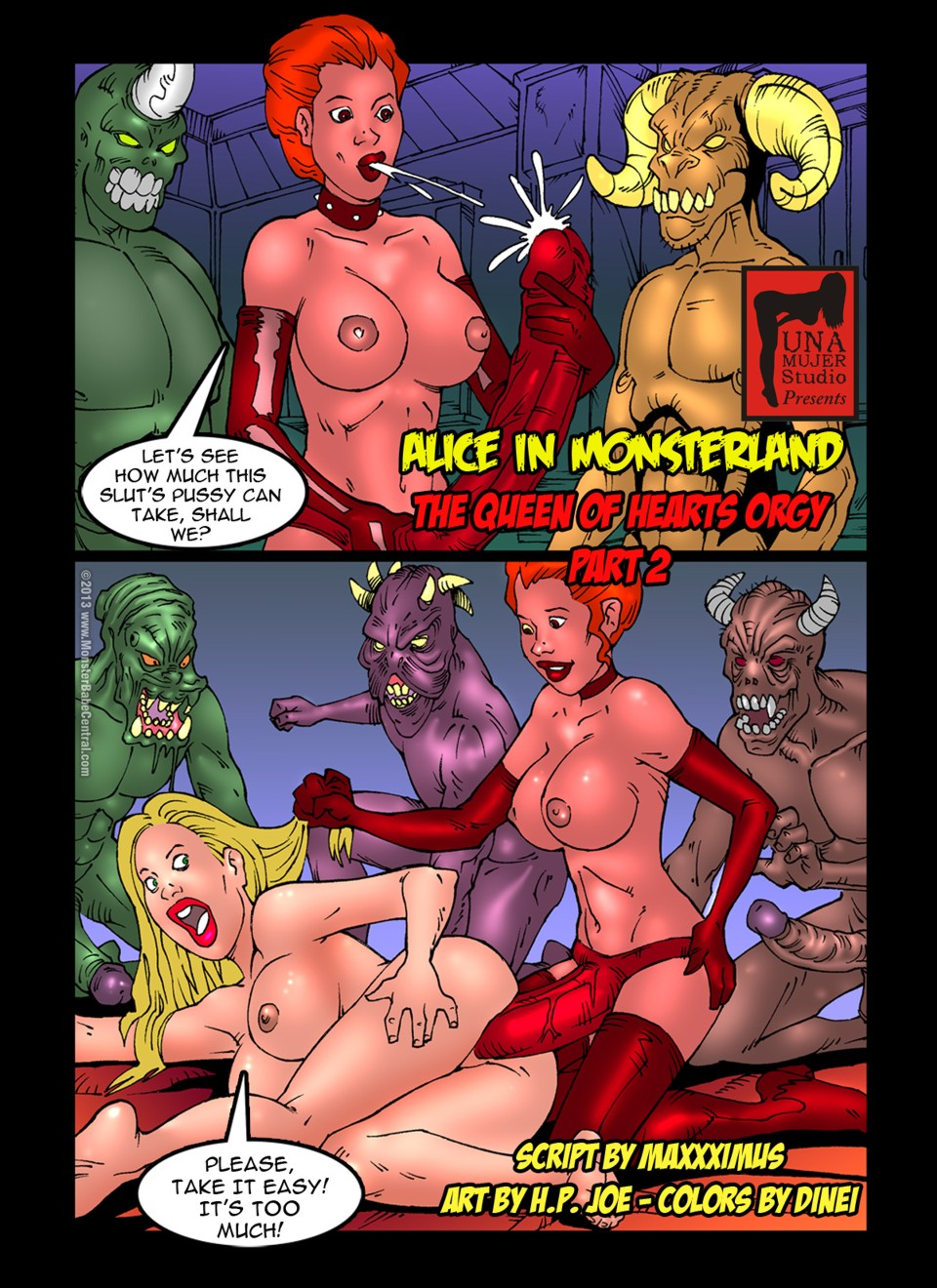 SureFap xxx porno Alice in Wonderland - [MonsterBabeCentral] - Alice in Monsterland 08 - The Queen Of Hearts Orgy Part 2