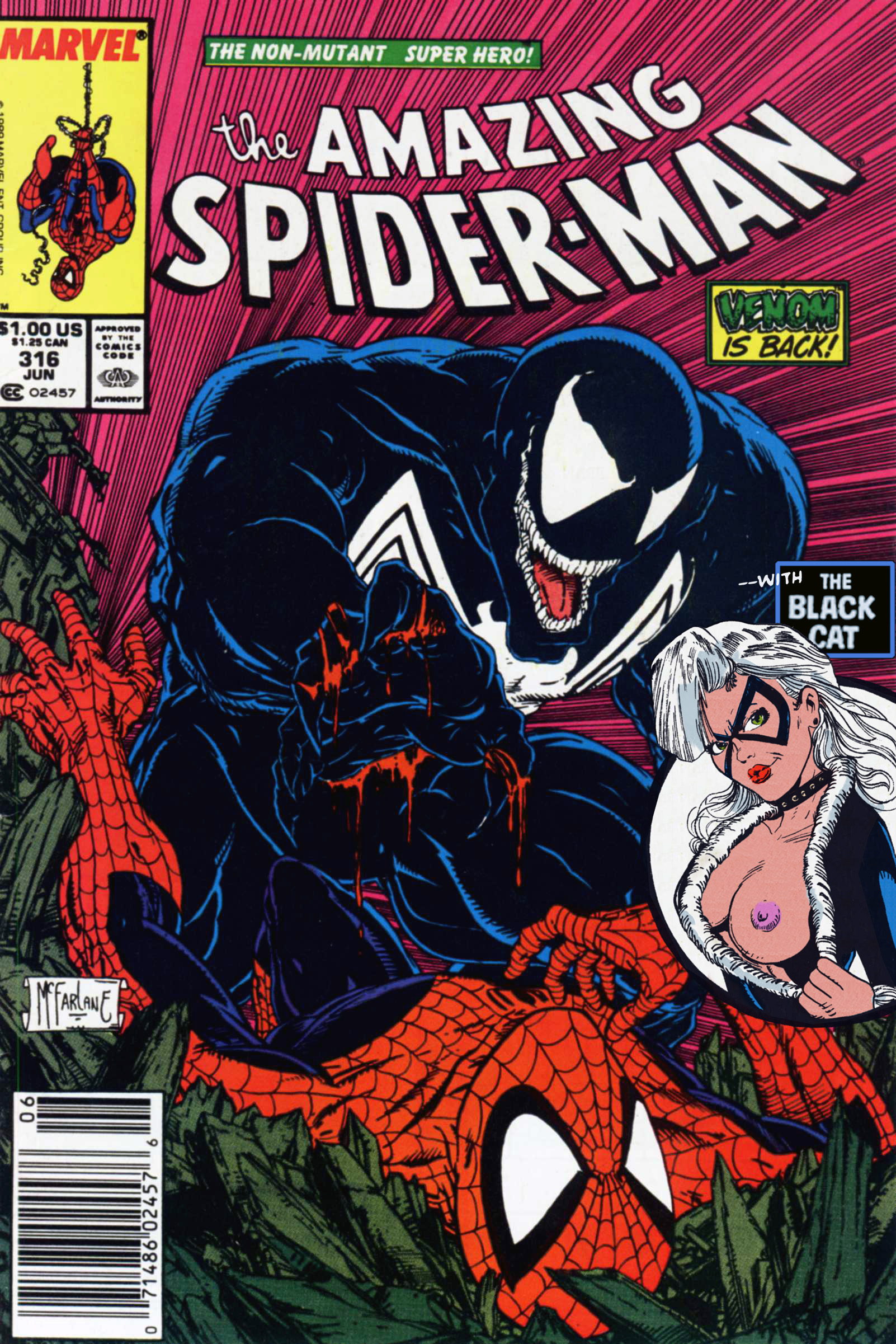 SureFap xxx porno Spider-Man - Amazing Spider-Man - Venom is Back #316 (1989) - (Un-Censor Works)