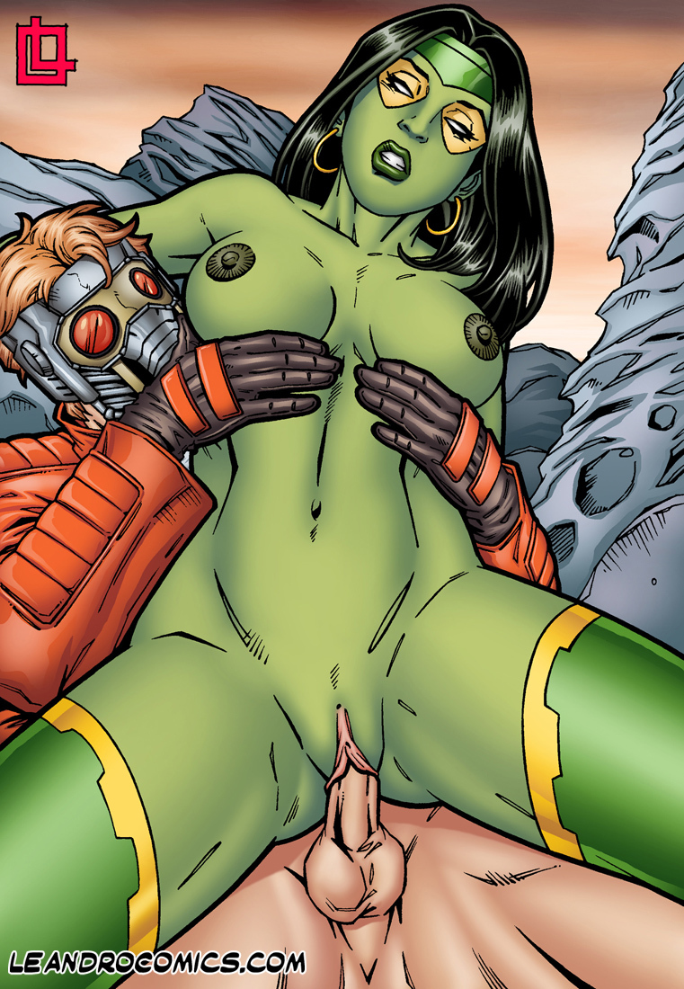 SureFap xxx porno Guardians of the Galaxy - [Leandro Comics] - Gamora Bounces On Star Lord's Hard Cock!