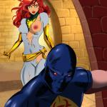 Crossover Heroes — [Online SuperHeroes] — Jean Grey Gets Her Bubble Butt Covered In Jizz