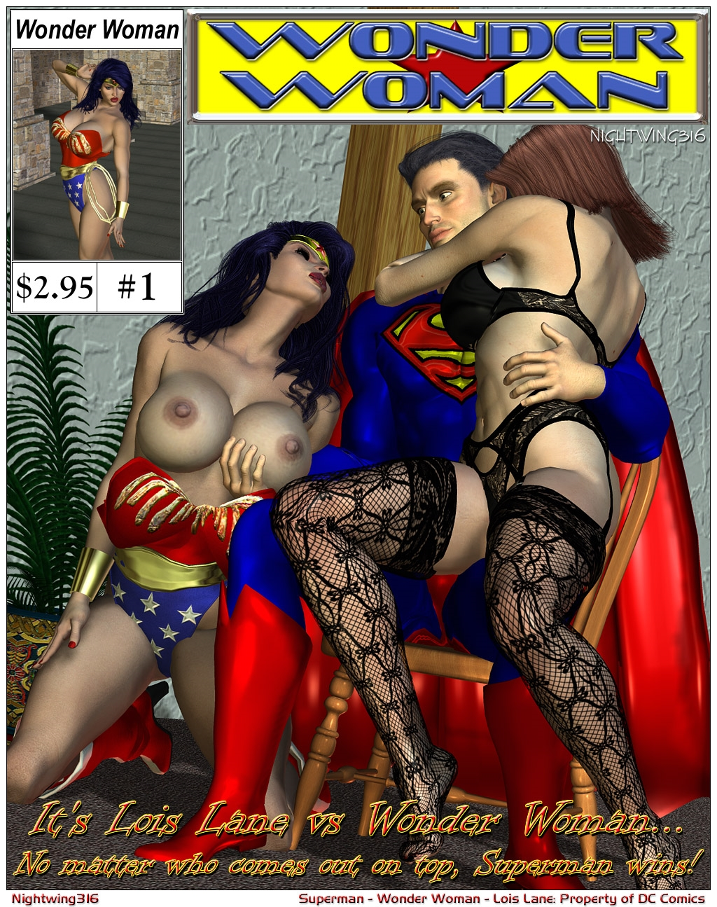 SureFap xxx porno Superman - [Nightwing316] - Lois Lane VS. Wonder Woman