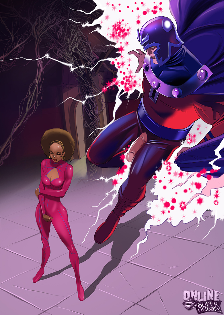 SureFap xxx porno Marvel Universe & Marvel Comics - [Online SuperHeroes] - Magneto and Misty Knight Get Interracial!