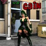 DC Comics - [MrBunnyArt] - Miss Arrow vs Cain (special Miss Green Arrow / Olivia Queen)