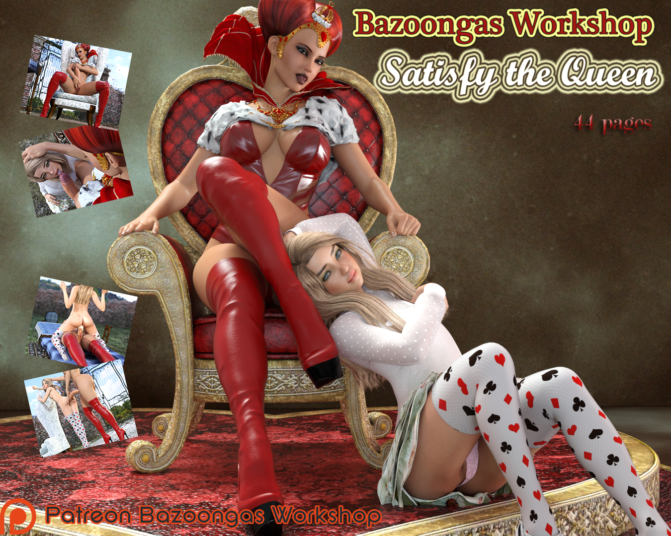 SureFap xxx porno Alice in Wonderland - [Bazoongas Workshop][3D] - Satisfy the Queen