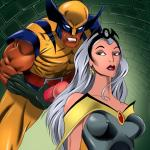 X-Men — [Online SuperHeroes] — Storm Gets a Messy Facial From Wolverine