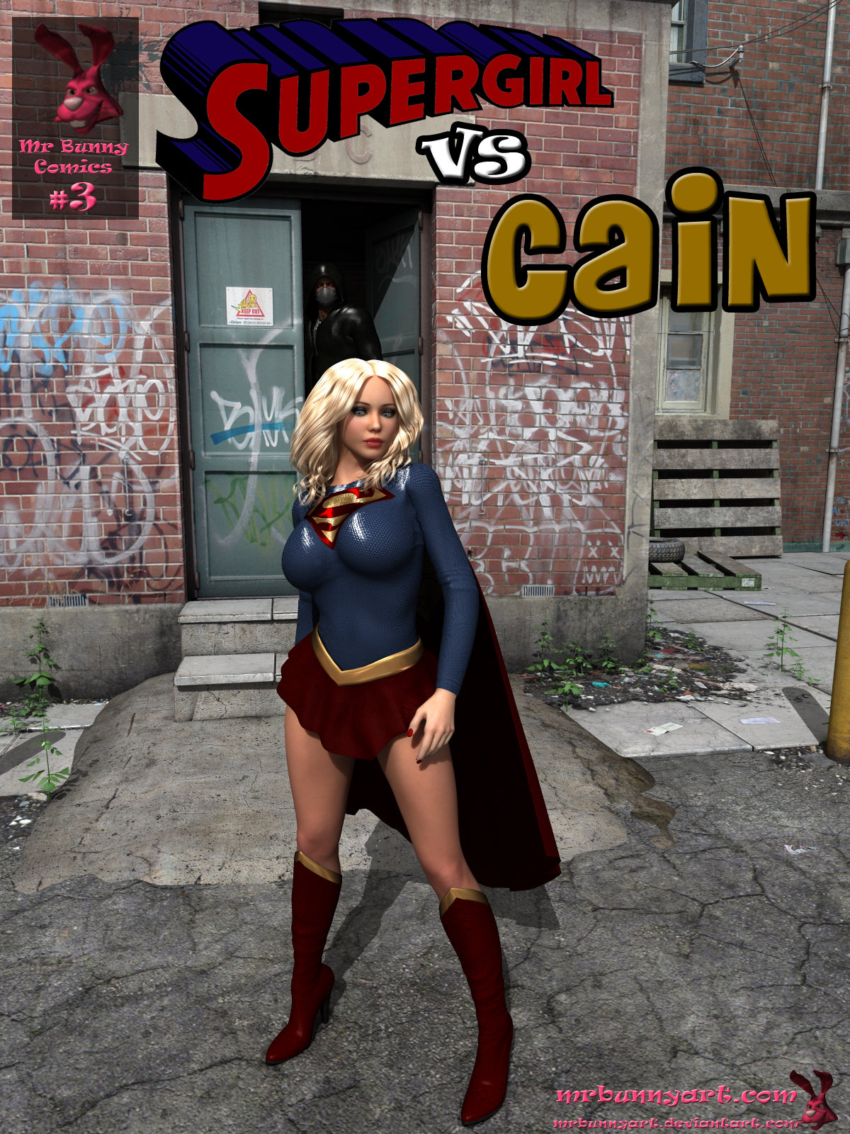 SureFap xxx porno Superman - [MrBunnyArt] - Supergirl Vs Cain