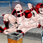 Daredevil — [Leandro Comics] — Daredevil Fucks Elektra On a Rooftop
