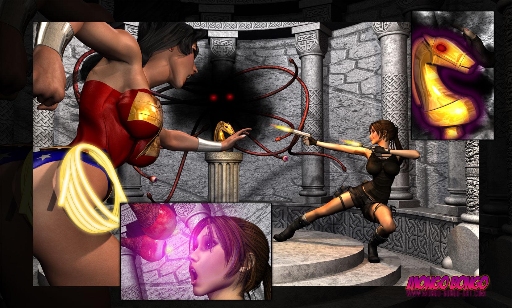 SureFap xxx porno Crossover - [Mongo Bongo][3D] - Lara Croft and Wonder Woman Vs Terrible Overlord
