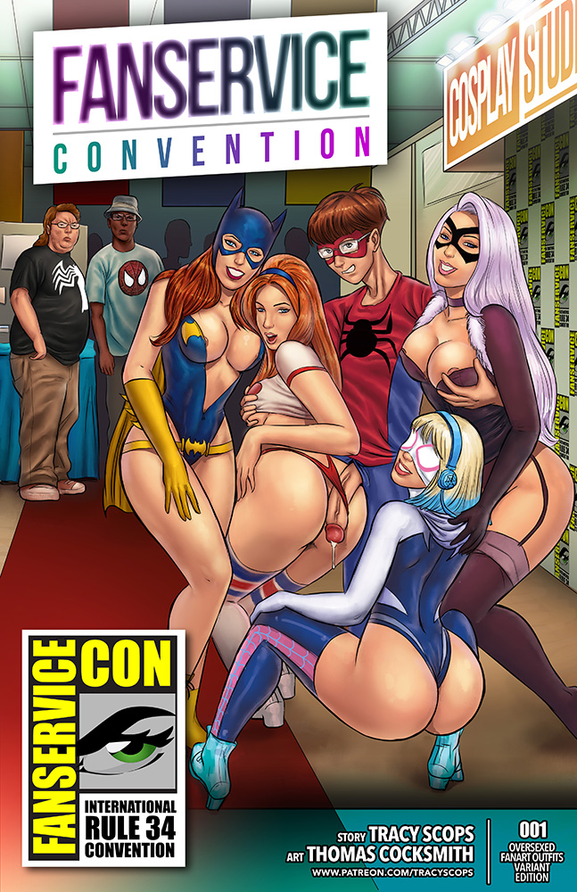 SureFap xxx porno Spider-Man - [Tracy Scops][Thomas Cocksmith] - Fan-Service Con (Fanservice Convention)