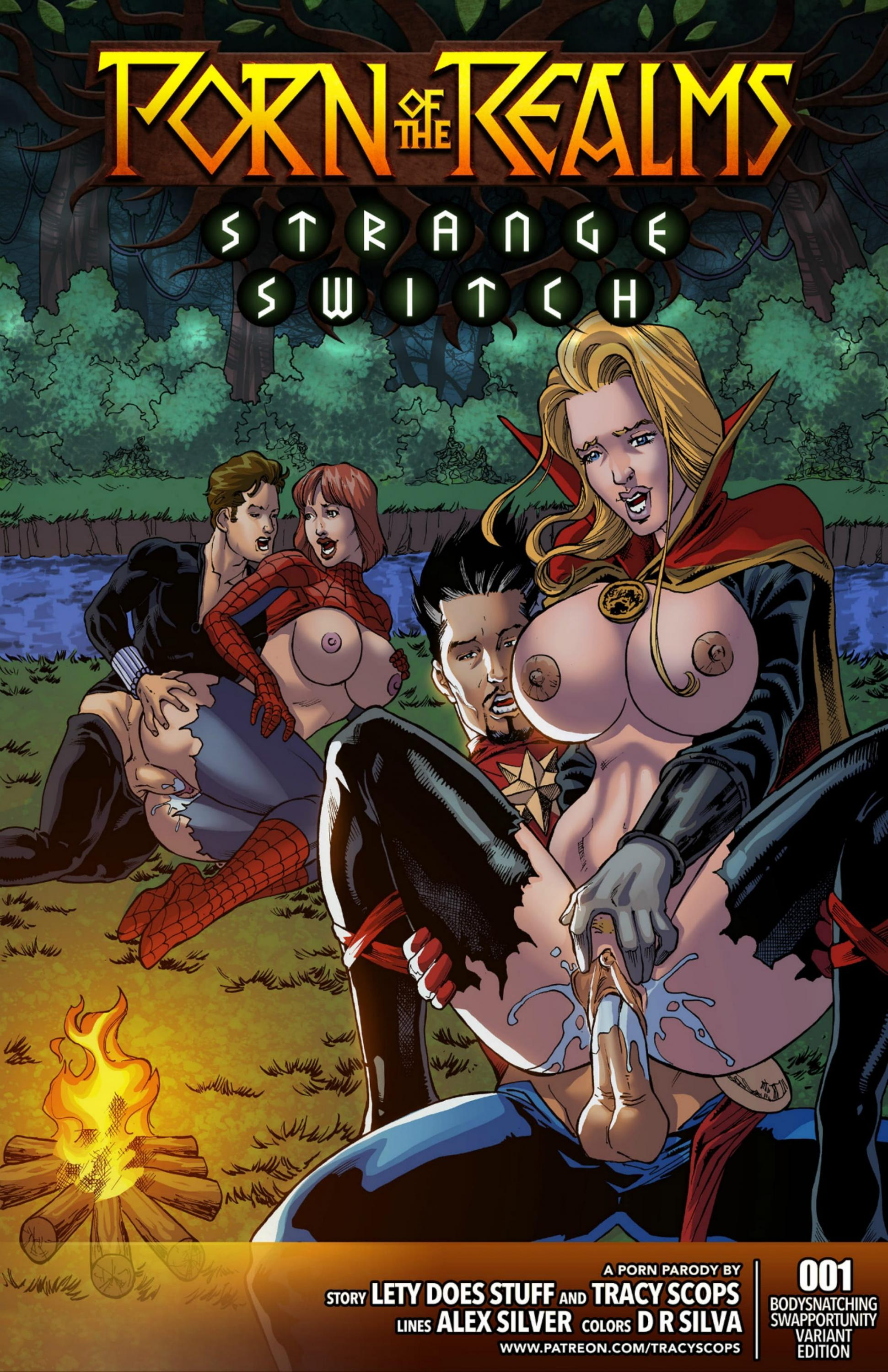 SureFap xxx porno Spider-Man - [Tracy Scops] - Porn of the Realms: Strange Switch