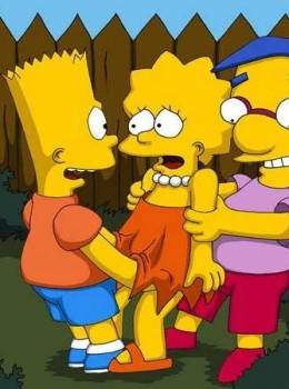 The Simpsons — [Comics-Toons] — Bart & Milhouse Fucks Lisa xxx porno