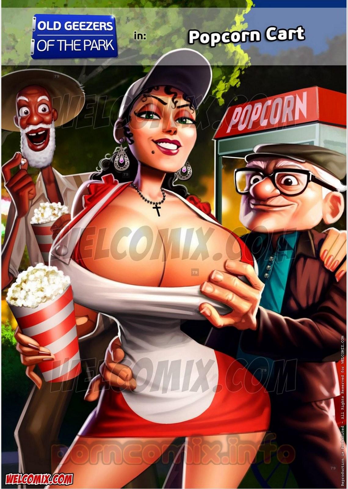 SureFap xxx porno Crossover - [WelComix][Jaguar] - Old Geezers of Parks #2 - Popcorn Cart