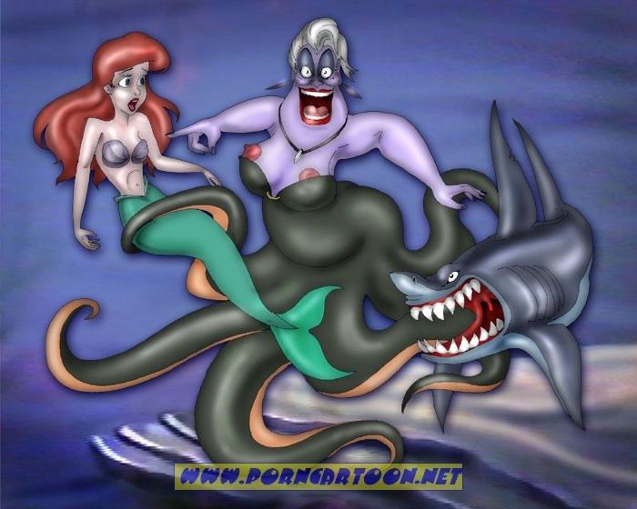 SureFap xxx porno The Little Mermaid - [PornCartoon] - Delicious Shark