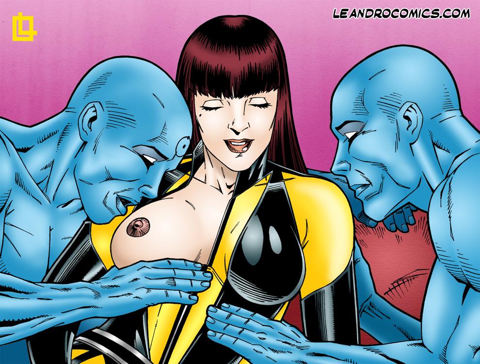 "SureFap xxx porno Watchmen - [Leandro Comics] - ""Oh Dr Manhattan, You Are So Naughty!"""