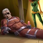 [Online SuperHeroes] - Nick Fury Deposits a Sticky Creampie on The Gaping Asshole of Phoenix!