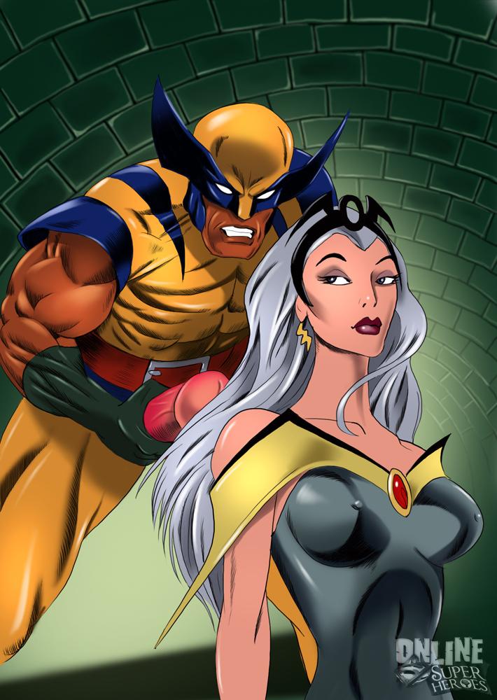 SureFap xxx porno X-Men - [Online SuperHeroes] - Storm Gets a Messy Facial From Wolverine