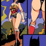Batman - [Okunev] - Wonder Woman Night Patrolling With Her Batman