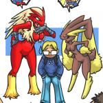 Pokemon - [Bittenhard, Ebony Pikachu] - Pokemon Battle: Lopunny Vs Blaziken