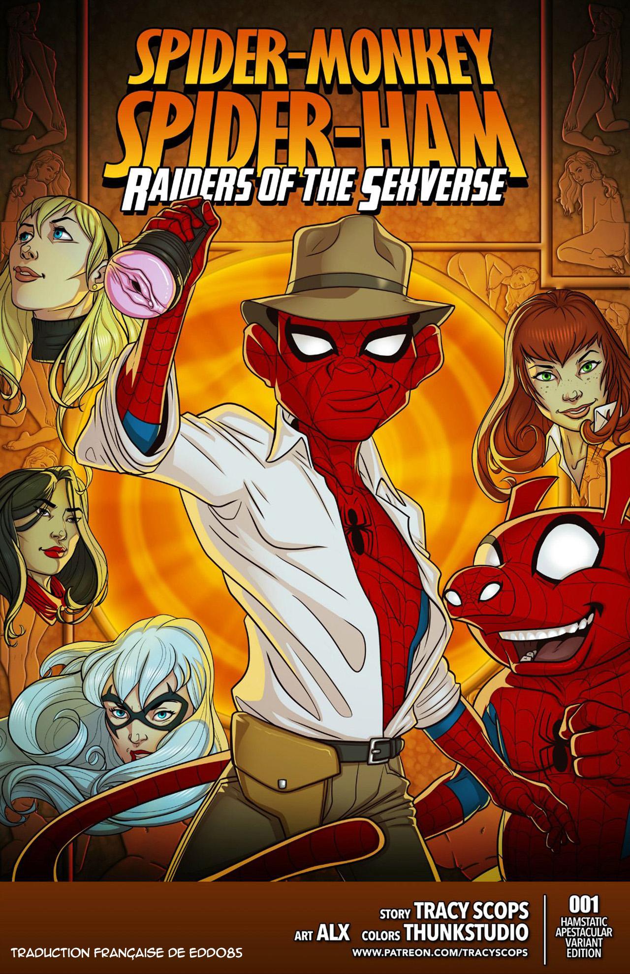 SureFap xxx porno Spider-Man - [Tracy Scops] - Spider-Monkey & Spider-Ham - Raiders of the Sexverse