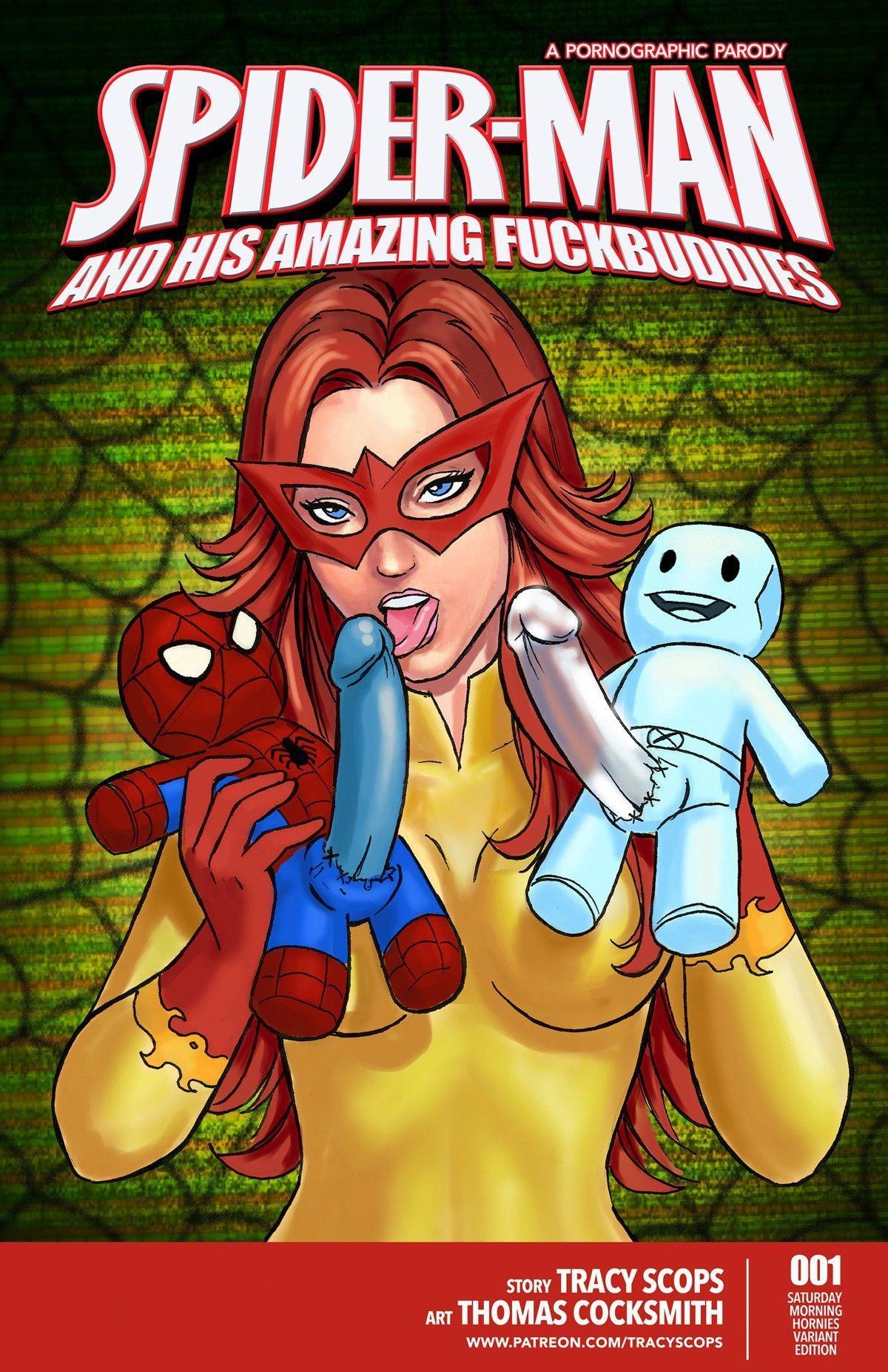 SureFap xxx porno Spider-Man - [Tracy Scops][Thomas Cocksmith] - Spider-Man And His Amazing Fuckbuddies