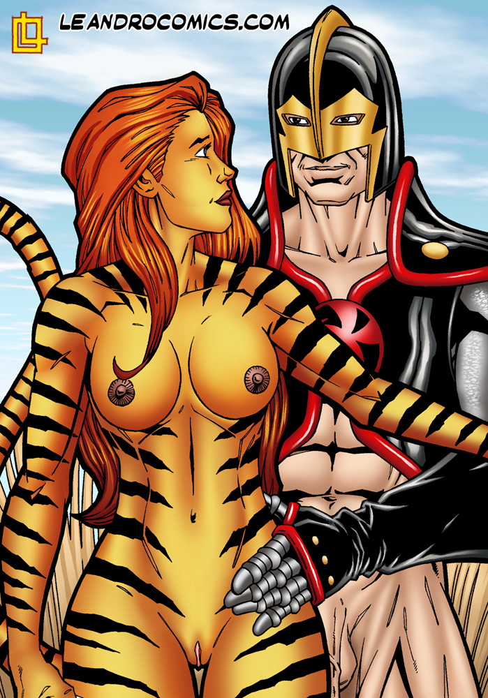 SureFap xxx porno Marvel Universe & Marvel Comics - [Leandro Comics][Gallery66] - Tigra Gets Wild And Kinky With The Black Knight's Meat Sword