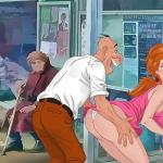 The Little Mermaid - [TitFlaviy] - The Adventures Of Ariel In The Modern World #17 Ariel Pays The Toll at the Bus Stop