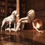 101 Dalmatians - [Vaesark] - Blond Girl and Pongo