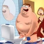 Family Guy - [XL-Toons] - Family Sex In The Toilet